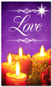 Christmas banner for churches - Love 3x5 purple