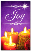 Christmas banner for churches - Joy 3x5 purple