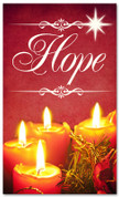 Hope 3x5 red Christmas banner for churches