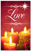 Christmas banner for church - Love 3x5 red