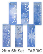 2x6 Fabric banner set of six Christian banners