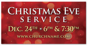 4x8 Red Outdoor church banner for Christmas Eve service