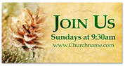 4x8 Christmas themed outdoor church banner