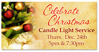 4x8 Outdoor Christmas banner for Christmas Eve church service