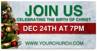 Christmas Eve church service banner