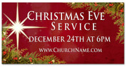 Xmas Eve Outdoor church banner