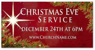 Xmas Eve Outdoor church banner