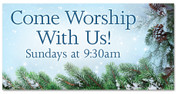 Christmas Outdoor Banner Come Worship