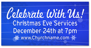 Christmas Outdoor Banner BLUE