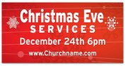 Christmas Outdoor Banner RED