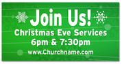 Christmas Outdoor Banner GREEN