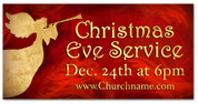 Christmas Outdoor Banner ANGEL RED