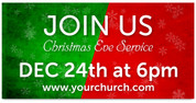GREEN RED Christmas Outdoor Banner