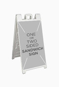 Custom Sandwich Board Sign (1 or 2 sided)