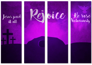 Set of 4  Church Banners