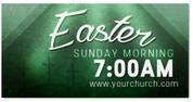 Outdoor vinyl banner for Easter