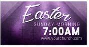 Outdoor vinyl Easter banner
