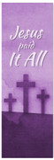 vertical hanging wall banner for Easter