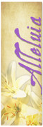Easter Lilies purple banner