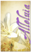 Easter lilies banner in purple