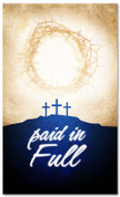 indoor easter banner - paid in full