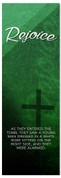 Dark Green Church Easter Banner - Rejoice