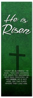 Dark Green Easter Banner - He is Risen