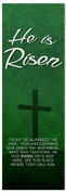 Dark Green Easter Banner - He is Risen