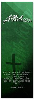 Dark Green Easter Banner - Alleluia