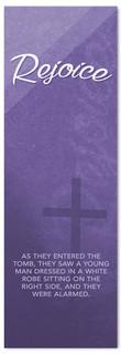Purple Easter Banner - Rejoice