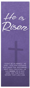 Purple Easter Banner - he is risen