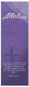 Purple Easter Banner - Alleluia