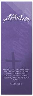 Purple Easter Banner - Alleluia