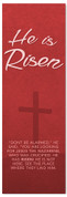He is Risen - Red Easter Banner