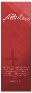 Red Alleluia - Easter Banner