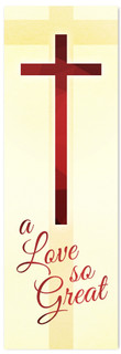 Christian Easter Banner - Red  (Love So Great)