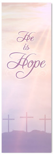 He is Hope easter banner