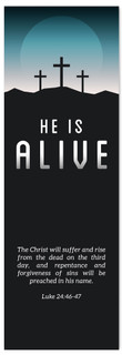 He is Alive Easter Banner
