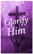 Glorify Him - Purple Easter Banner for church