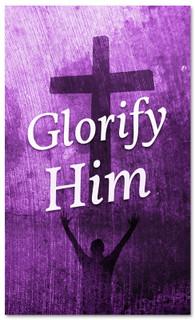 Glorify Him - Purple Easter Banner for church