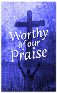 Blue Easter Banner - Worthy of our Praise