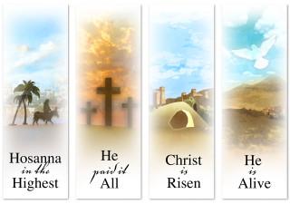 Easter Banner set of 4
