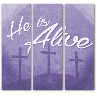 He is Alive set of 3 Easter Banners