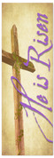 He is Risen cross banner