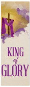 King of Glory fabric banner