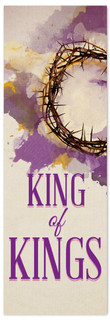 King of Kings fabric banner