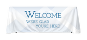 6ft and 8ft table throw - Welcome Blue Diamond Design
