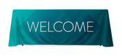 Welcome Teal Blue design in 6ft or 8ft table throw