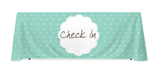 Check In Polka Dot Pattern Table Throw