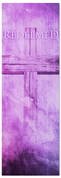 Redeemed purple banner